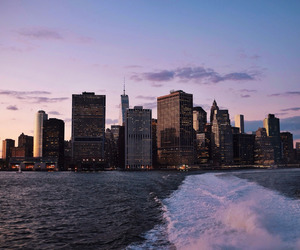 city, sky, and new york image