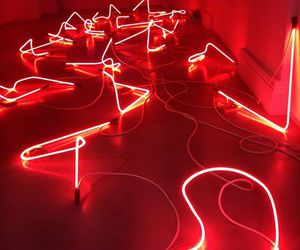 aesthetic, red, and neon image