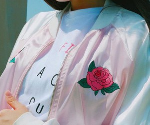 pink, rose, and style image