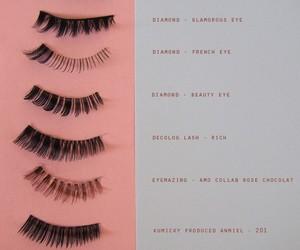eyelashes, makeup, and pink image