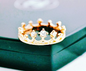beautiful, ring, and crown image