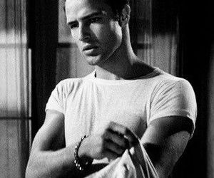 black and white, classic, and man image