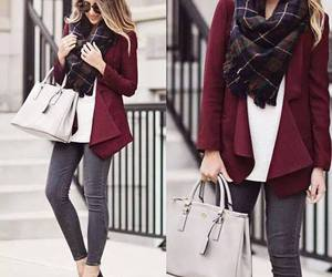burgundy cardigan outfit image