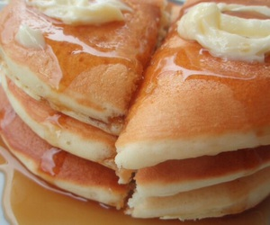 food, pancakes, and yum image