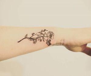 minimalist, tattoo, and wild flower image