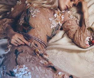 floral, leather, and abbey lee image