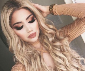 beauty, hair, and lipstick image