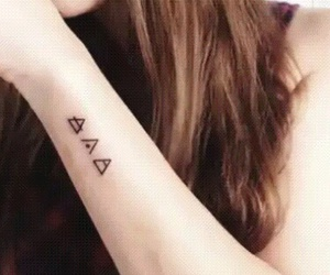 tattoo, triangle, and glyphs image