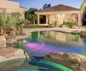 luxury, mansion, and pool image