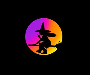 black, colour, and Halloween image