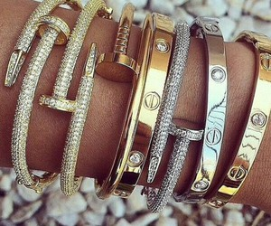bracelet, luxury, and gold image