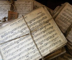 music, vintage, and note image