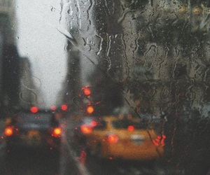 rain, car, and city image