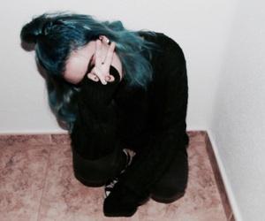 black, blue, and colour image