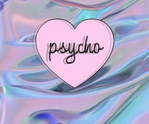 wallpaper, Psycho, and pink image