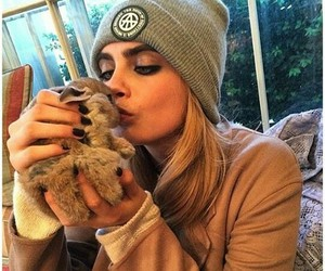 cara delevingne, model, and rabbit image