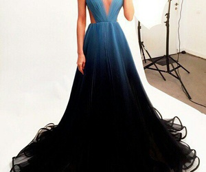 dress, blue, and black image
