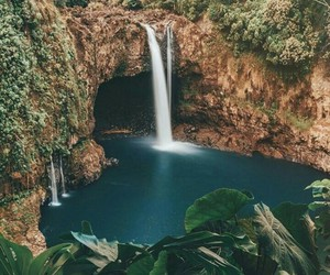 nature and waterfall image