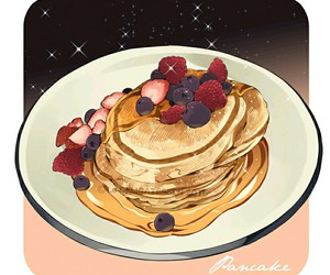 delicious, dessert, and pancakes image