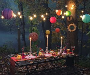 alfresco, candles, and lanterns image