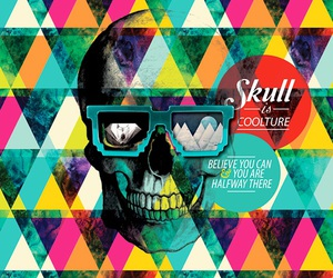 skull and triangle image