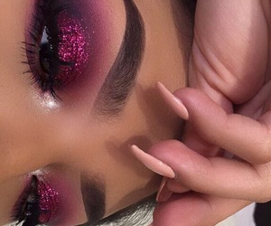 beauty, eyebrows, and glitter image