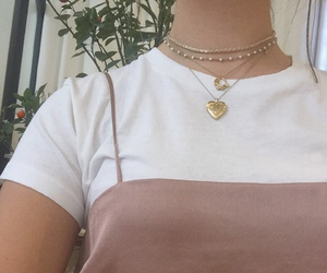 aesthetic, nature, and necklace image