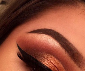 eyebrows, eyeliner, and eyeshadow image