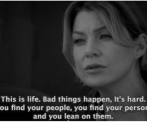 quotes, life, and grey's anatomy image