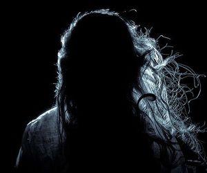dark, girl, and hair image