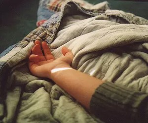hand, light, and vintage image