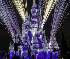 blue, castle, and disney image