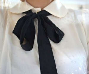 fashion, bow, and white image