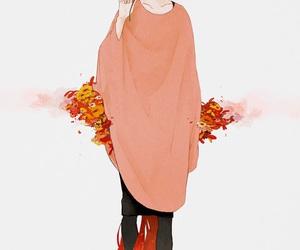 anime girl, fall, and fashionista image