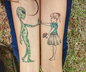 art, et, and girl image