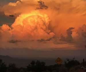 clouds, dark, and new mexico image