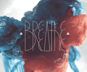 art, blue, and breathe image
