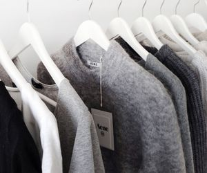 fashion, clothes, and grey image