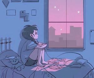 night, alone, and music image