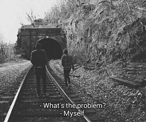 problem, sad, and myself image