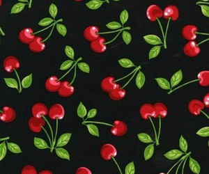 background, fruit, and cherry image