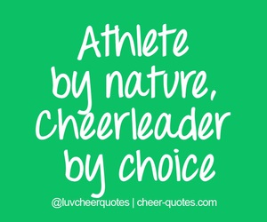 cheer, quote, and cheerleading image