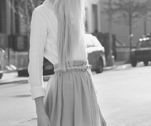60's, black and white, and girl image