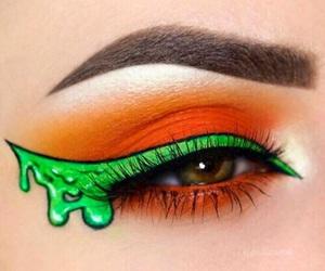 makeup, Halloween, and green image