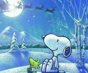 snoopy, christmas, and woodstock image