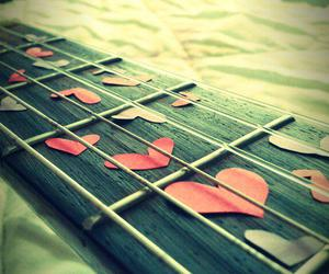 love, heart, and guitar image