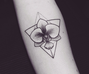 flowers, tattoo, and girl image
