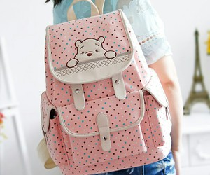 backpack, accessories, and pink image