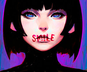 smile, art, and anime image