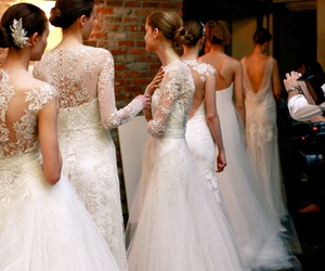 wedding, white, and dress image